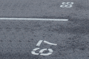 ライン引き・駐車番号表記・車止めブロック
